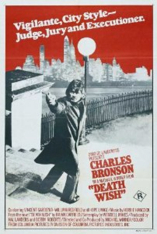 """Death Wish"" Theatrical poster (1974)"