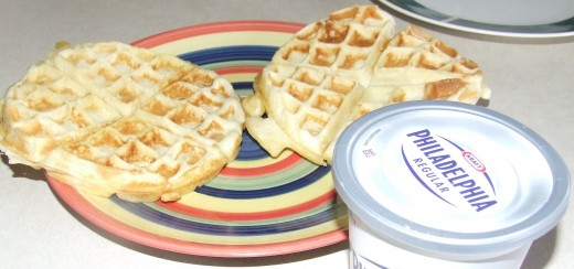 Photo of waffles on plate