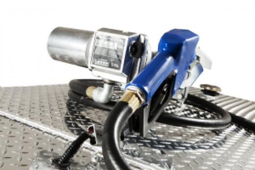 Fuel nozzle with fuel meter.