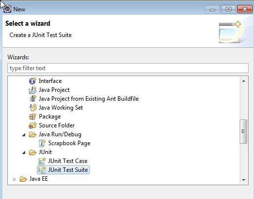 Select JUnit Test Suite