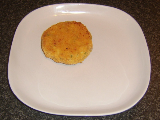 Plated potato cake
