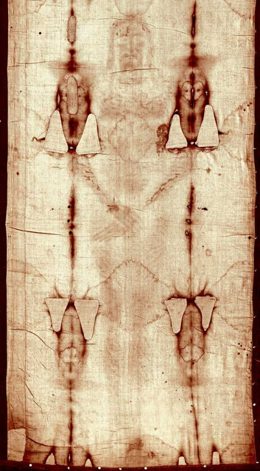 The Shroud of Turin was said to be Jesus Christ's burial cloth.