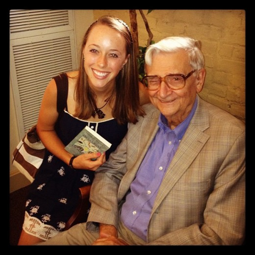 E. O. Wilson and I after he gave a lecture at my school.