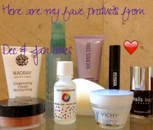 I just love Glossybox!  There are my favorite products from the December and January boxes