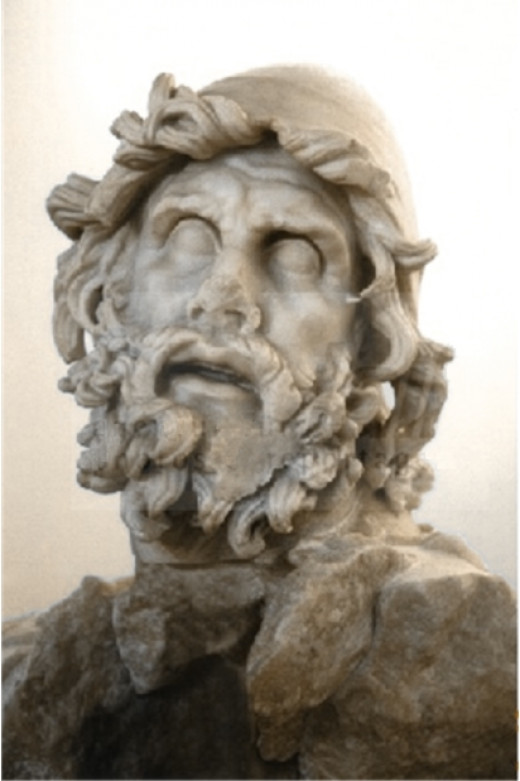 A statue of Odysseus from Homer's epic poem, The Odyssey.