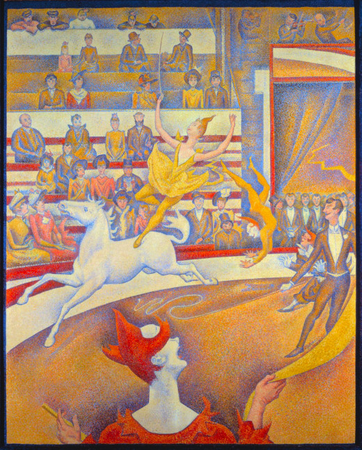 Pointilism painting was done by Seurat