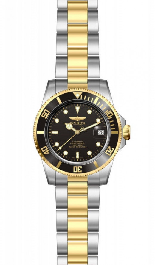 Invicta 8927C Pro Diver Black Dial Two-tone With Coin Edged Bezel  Automatic Watch