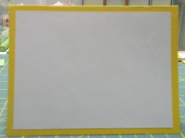 Folded card with background cardstock adhered