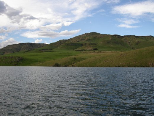 The beautiful Drakensberg Mountains at Lake St Bernard
