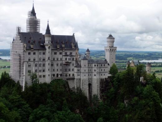 The Neuschwanstein Castle from the Marienbrucke