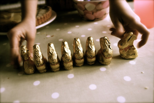 Chocolate Bunnies make a good alternative for Easter!