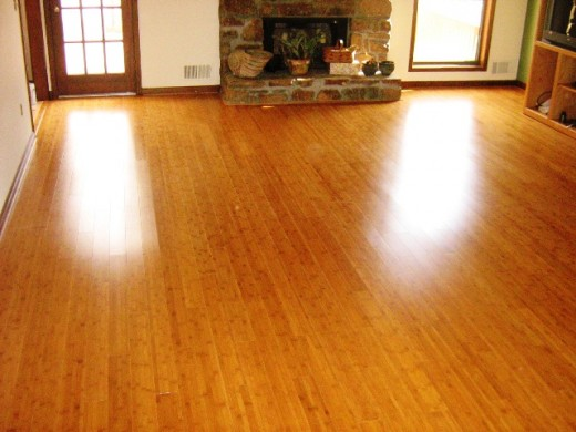 Beautiful bamboo flooring