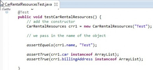 This is the code for the completed constructor which passed JUnit test.