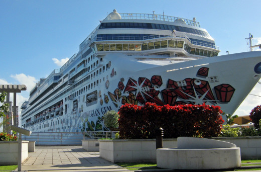 Norwegian Cruise Line Docked in San Juan, Puerto Rico