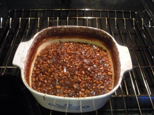 If the beans look like this when checked, add boiling water to just cover them