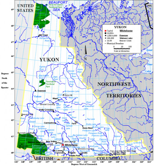 Map of the Yukon created by Earl Andrew