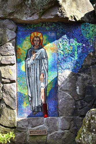 Saint Peregrine healed of cancerous sore.