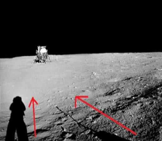 moon landing conspiracy shadows - photo #1