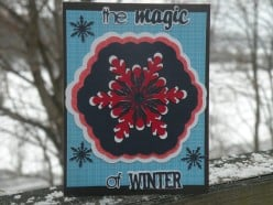 Easy to Make Homemade Card with a Winter Theme using a Cricut Machine