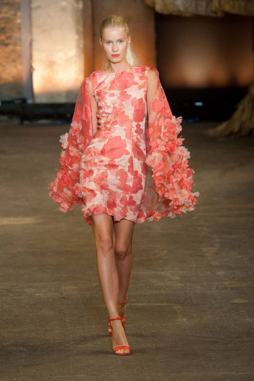 Coral dress by Christian Siriano