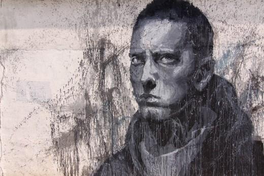 Graffiti of Eminem in Shanghai, China
