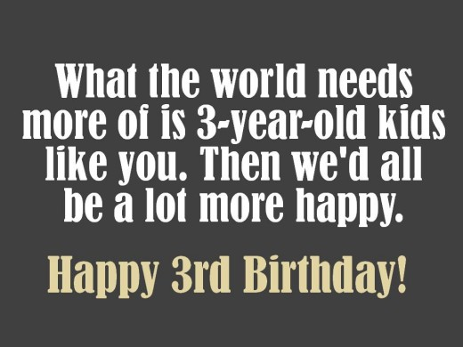 Sweet 3rd Birthday Message