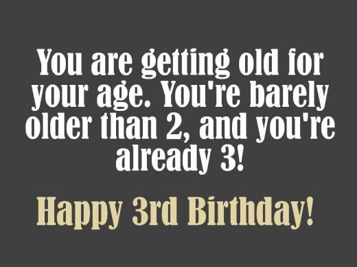 Cute 3rd Birthday Wish