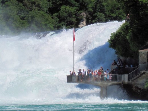However, later the next day, when the weather was favorable we visited the Rhine falls an incredible display of cascading falls with loud noise.
