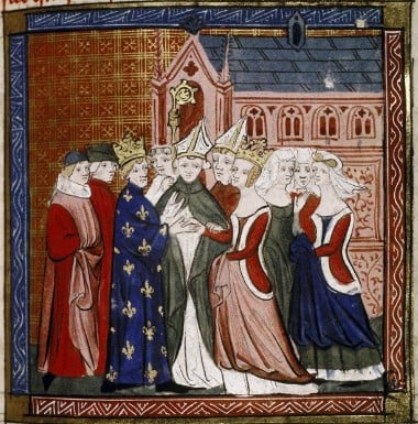 Eleanor of Aquitaine was married the man who would become Louis VII of France in 1137 when she was 15 years old. She had her marriage annulled by Pope Eugene in 1152.