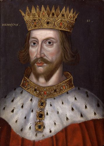 King Henry II of England (1133-1189) married Eleanor in 1152. She was imprisoned by him after her reputed part in a revolt against him in 1173-43.