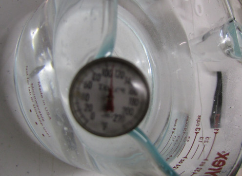 My tap water runs anywhere between 110° to 125°F