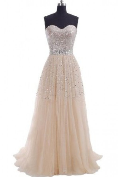 Ivory studed gown.