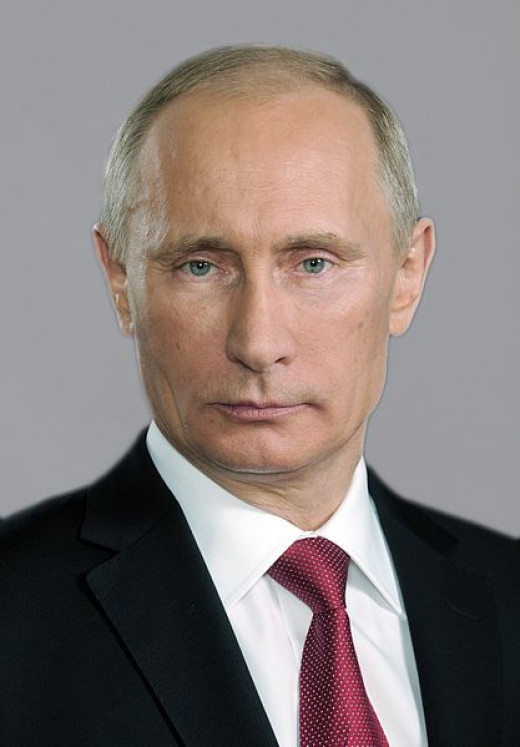 Vladimir Putin - Russian president and former head of the KGB.