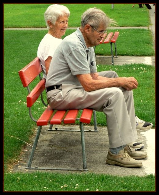 Elderly couple most likely relying on Medicaid