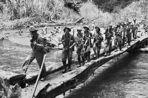 Australian diggers during the Kokoda track campaign. Australians were extremely outnumbered during this campaign.
