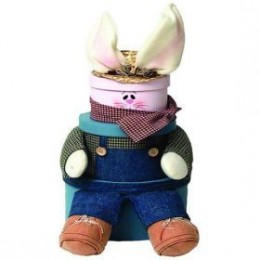 Jack Rabbit Gift Tower - Easter Gourmet Food Gift Basket