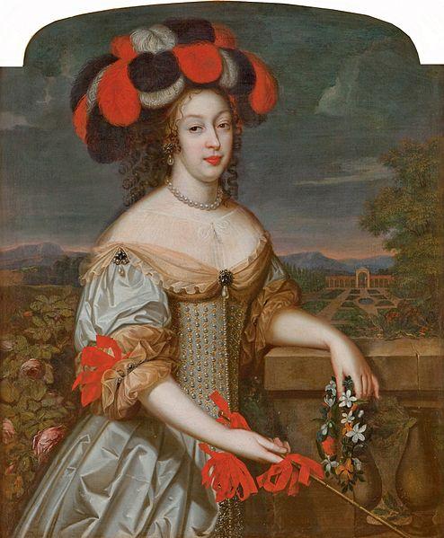 Portrait of Anne Marie Louise d'Orléans, La Grande Mademoiselle by Louis F Elle