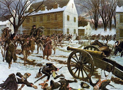 Battle of Trenton, painted by H. Charles McBarron, Jr., in 1975