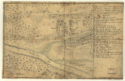 1776 Battle of Trenton, sketched by Hessians