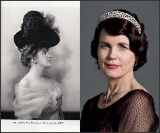 Lady Almina (left) was the Lady of the manor in the early 1900s, the same time frame as the Lady Grantham in the Downton Abbey series.