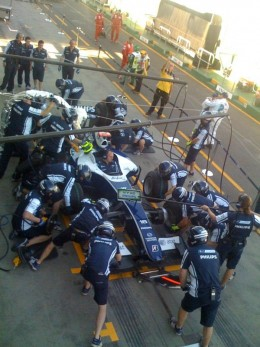 A pit stop changeover is accomplished using SMED