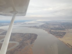 Flying over the Chesapeake Bay on a lazy Sunday