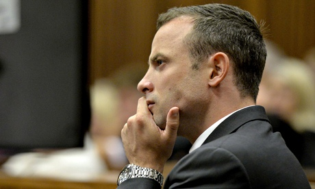 Oscar Pistorius at the trial 3rd March, 2014.