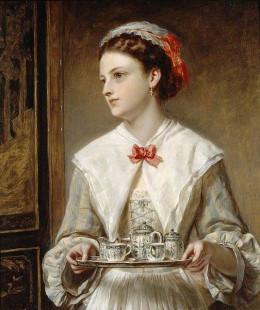 Lady with Tea Tray