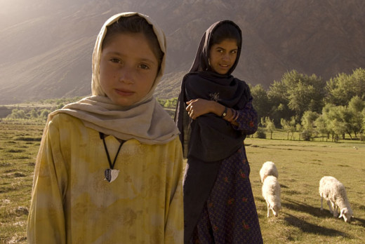 Shepherd girls in Pakistan.