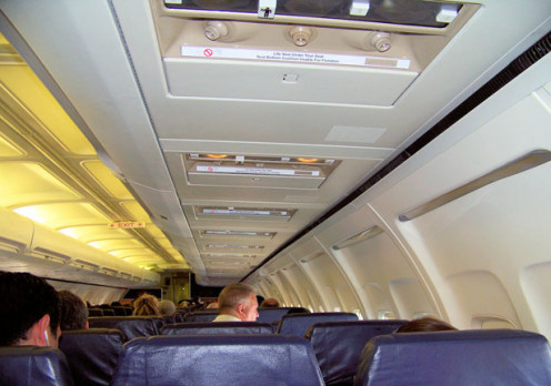 Image of airplane cabin.