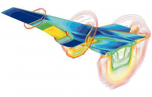 Instantaneous fluid mechanics of an airfoil.