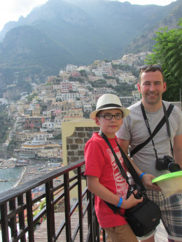 Just after we got off the bus in Positano