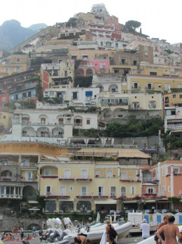 Houses perched on the cliffside, Positano