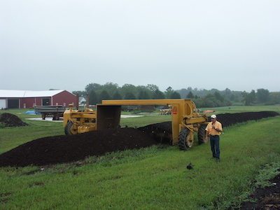 Rodale demonstrates composting on a large scale at the Emmaus, Pennsylvania farm. Composting is free black gold for your garden.